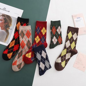 Casual Men's & Women's European and American Retro Socks 2020 New Autumn and Winter Fashion Couple Free Size Middle Tube Socks 6 Styles
