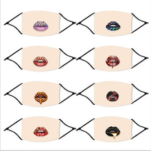 Fashion Shinning Funny Lip Face Masks Mouth Dustproof Ice Silk Adult Reusable Washable Designer Mask with PM2.5 Filter