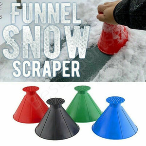 New Snow Remover Magical Window Windshield Car Ice Scraper Cone Shaped Funnel Housekeeping Cleaning Tool CYZ2797
