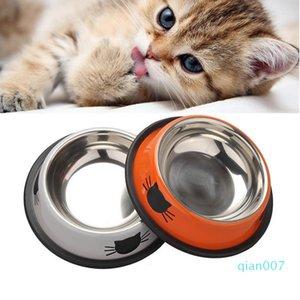개 고양이 그릇 스테인레스 스틸 애완 동물 애완 동물 용품 그릇 도구를 먹이 마시는 개 고양이 물 사발 애완 동물 제품 안티 - 스키드