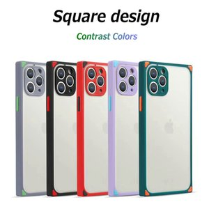 Atacado Praça Matte translúcido Phone Case pele do iPhone Sinta tampa traseira para 11 Pro 8plus Max X Xs XR Xs Max 7 8G