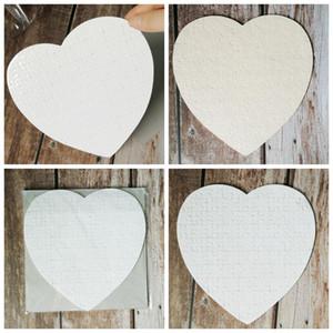 Bianche puzzle a forma di cuore Puzzle di sublimazione Blank Pearl Jigsaw Puzzle di compleanno fai da te San Valentino festa favore del regalo di 75 pezzi DHE106