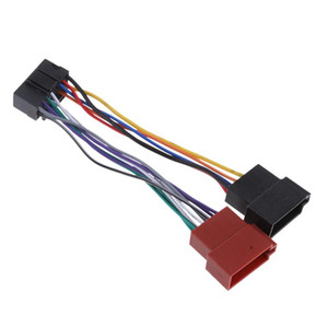 Car Radio Stereo Cable Wire Harness Adapter 16 Pin DIN ISO Female Socket For JVC Connection