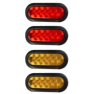 2 Pz ovale 6 LED Trailer Fanale posteriore Kit IP67 arresto impermeabile spegnere le luci Mount Sealed freno per rimorchio della barca RV Camion Auto Parte