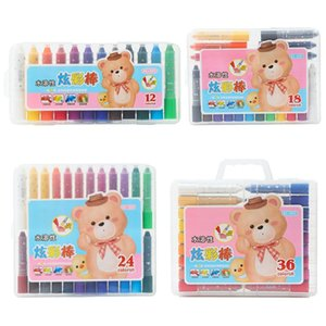 12 18 24 36 Colors Wax Crayon Oil Pastel Pen Candy Color Drawing Painting Graffiti Student Stationery Art Supplies
