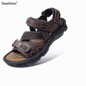 SusuGrace Summer Men Sandals Outsides Plus Size New Slippers Fashion Casual Footwear Summer Non Slip Slippers Hombre Beach Shoes FFqd#