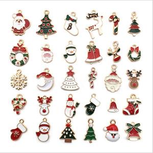 Takı Satış Yapma için Fabrika Doğrudan Noel Charms Yağ Damlama Alaşım diy Bilezikler Süsler Santa Ağacı Bells Kolye Aksesuar