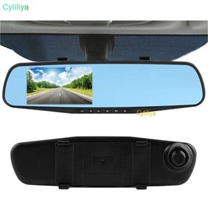 Full Hd 1080p Car Dvr Mirror Dual Camera 4 .3 Dash Cam Recorder Rearview Cameras Parking Rear View Dual Lens Video Camcorder (Hl )