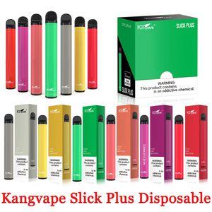 100% Authetic Kangvape Slick Plus desechables Pod Vape Dispositivo 550mAh 3,5 ml vacío Dispositivo Sistema cerrado de vapor 850 Puff Puff VS barra de hojaldre XXL Kit
