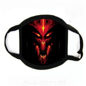 Ead alloween Masques d'impression loup Ammer Masque Creepy Costume Teater Prop Latex Ruer Nouveauté Masque # 451