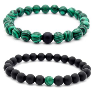 Yinyang Stone Beads Bracelet Black Malachite Bracelet fashion jewelry women bracelets mens bracelets Will and Sandy new