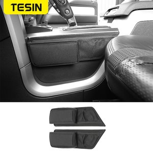 TESIN Stowing Tidying For F150 Raptor Car Gear Shift Storage Bag Organizer Tray Accessories For F150 Raptor 2009-2014