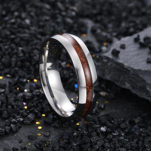 Мода из нержавеющей стали Вуд кольца синих колец золотого ободка для Мужчины Женщины мод ювелирных изделий и песчаных новых