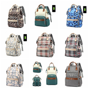 Large Capacity Travel Backpack Baby Care Waterproof Backpack Diaper Mummy Bag Maternity Backpack Bags Mum Bag Stroller With UsbFree Shipping
