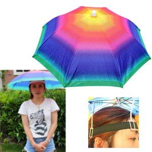 Outdoor Fishing Caps Portable Head Umbrella Hat Anti-Rain Fishing Sun Umbrella Hat Outdoor Sports Cap Hands Free For Fishing