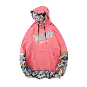 Gao Jie Chao brand dark wind bear printed hooded sweater men's and women's ins national tide loose hoodie coat autumn VGN7