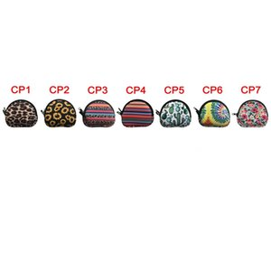 Neoprene Semicircular Portable Mask Bag, Coin Purse, Waterproof Earbud Case Bag With Keyrings GWE1918
