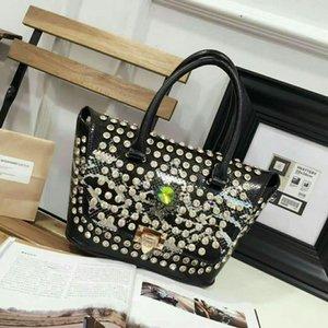 Lucky2019 Алмазная кожа Подлинная женщина пакет Змеи одного плеча сумочку