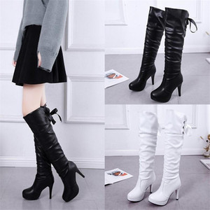 Autumn Winter Women High quality leather Boot Over The Knee Boots Zipper Sexy High Heels Shoes Woman Non-slip Botas Warm Boots