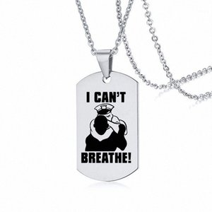 I Can't Breathe Necklace American Protest Men and Women Black Lives Matter Pendant Necklaces Stainless Steel Necklace Badge1 ldAC#