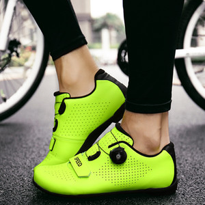 high-quality Men's cycling shoes brand Leisure men's women's road bike shoes Professional hard soled mountain cycling