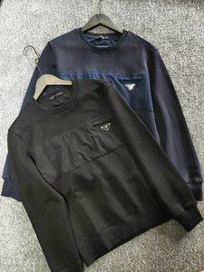 20ss Männer Sweatshirt Marke Retro Jacke Stehkragen Stitching Kontrastüberdimensionierte 350 Gramm reinen Terry Pullover Baumwolle