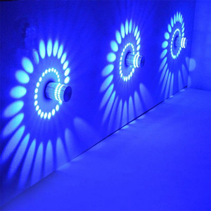 Lamp Colorful RGB Spiral Hole Wall Lamps Surface Install LED Light Luminaire Lights Flexible Lighting Energy Saving Led Strip