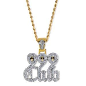 Crânio 999 clube europeu American Nightmare marca personalidade maré hip hop jóias homens antes pingente sólida natal
