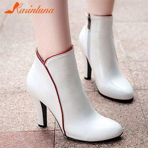Karinluna 2020 qaulity de la parte superior de tamaño grande 48 elegantes zapatos de tacón alto 10cm Mujer de la oficina femeninos botines zapatos de la señora womenoutlet