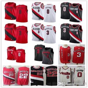 ملك الرجالبورتلاندتريل بليزرز0 داميانLillard 3 C.J.ماكولوم 22 كلايددريكسلر كرة السلة السراويل كرة السلة جيرسي
