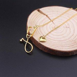 Estetoscópio colares enfermeira cadeias Colares presentes doutorado Colar amor criativo Coração