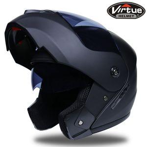Motorrad Electric Vehicle Doppelobjektiv Facelift Helm voller Helm Rennhelm für Männer und Frauen laufen