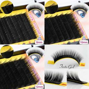 1 Tray 12 Rows 0.10C Curl Black Long Individual natural Mink Eyelash Extension Artificial Fake False Eyelashes 8 10 12MM