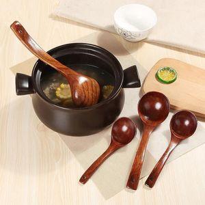 Reusable Cooking Spoon Wooden Deep Ladle Scoop Japanese-style Serving Ladle Kitchen Soup Porridge Spoon Utensils Tool S M L#1