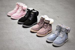 Otoño / invierno 2020 botas de las nuevas mujeres de Martin con peluda botas casuales de nieve plana dulces botas cortas 8cfp #