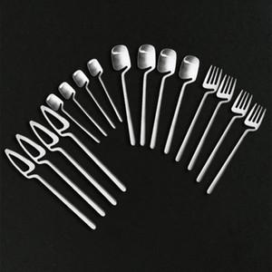 SIilver 304 Stainless Steel Dinnerware Set 16Pcs Matte Flatware Cutlery Coffee Spoon Fork Knife Western Utensils Tableware Set