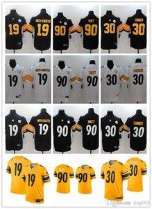 Erkekler Kadınlar Gençlik PittsburghSteelers19 JuJu Smith-Schuster 90 T.J. Watt 7 Ben Roethlisberger 30 James Conner Özel Futbol Formalar