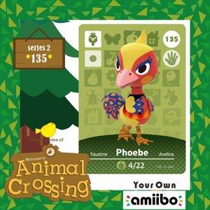 Animal Crossing Köylü Amiibo Kartı 135 Amiibo Phoebe Animal Crossing Yeni Ufuklar Köylü kart Phoebe 135 Serisi Seti Season2
