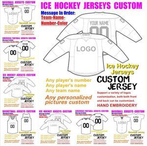 Mens Womens Youth Custom American Football Baseball Jerseys Personalize Customized any name number shirts hockey basketball jersey 4xl