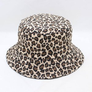 LDSLYJR 2020 Leopard print Bucket Hat Fisherman Hat outdoor travel Sun Cap Hats for Men and Women 280
