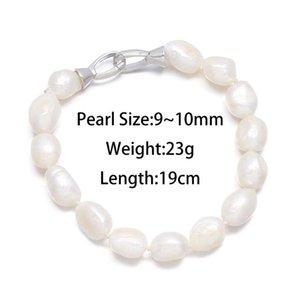 Charm Bracelets Irregular Baropue Pearl 9-10 Mm Bracelet For Women Romantic Love Gift