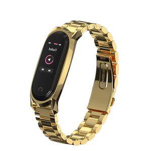 Stainless Metal Wristband For Mi Band 3 4 Strap for Mi Band 3 Smartwatch 4 Miband Wrist Bracelet Strap