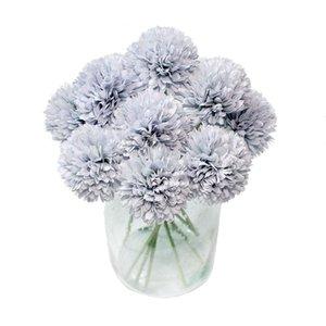 Fiori artificiali Hydrangea Chrysanthemum Artificial Hydrangea Flower Bouquet Bouquet Ball Ball per la decorazione della festa di nozze della casa