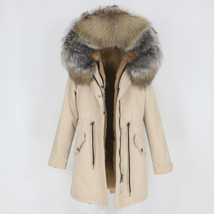 OFTBUY 2020 Nueva chaqueta impermeable largo parka de invierno Escudo real natural la piel del mapache de la capilla de abrigo desmontable Streetwear mujeres