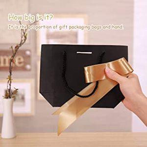 12pcs Party Sac de papier cadeau Attire avec un arc et ruban Convient pour cadeaux de célébration de demoiselle d'honneur anniversaire de mariage