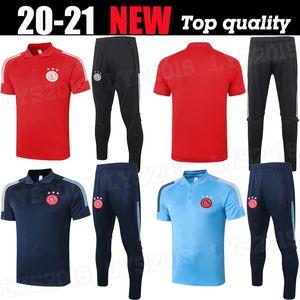 2020 2021 AFC Ajax Soccer Jersey Polos 20 21 Ajax TADIC PROMES ZIYECH manches courtes Maillots de foot ensembles de costume de formation à court de-2XL