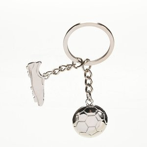1pcs Fashion Trinkets Keychain Alloy Metal Chain Football Soccer Shoes Key Chains Gift For Boys
