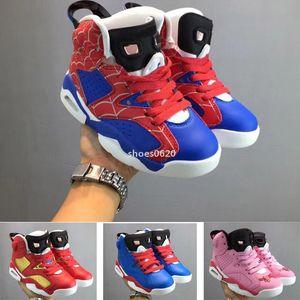 2019 Mid alta J6 6 Crianças tênis de basquete desporto juvenil criança menino menina Sneaker tamanho 28-35