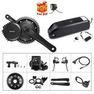 48V 1000W 100mm 팔방 BBS03 BBSHD 전기 자전거 중순 드라이브 모터 변환 키트 E 자전거 엔진 키트와 함께 17.5Ah 삼성 배터리