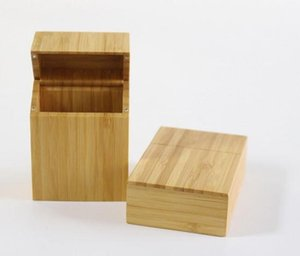 Bamboo Wood Pocket Portable Cigarettes Case Box with Hinge for Cigarettes Gift Packaging Candy Jewelry Jar Case 102*68*33mm